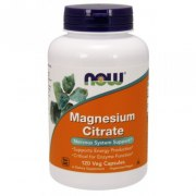 NOW Magnesium Citrate 120 вег капс